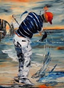 Golfeur-Etretat