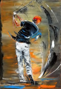 Golfeur-tuniquebleue